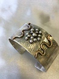 JAC 3-5 copper/silver swirl cuff