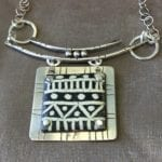 sterling with black/white enamel