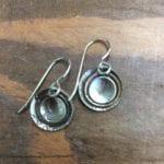 JAC 1-17 petite mixed metal - silver/copper, hangs .75