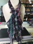 short ruffled scarf - 38 L x 4-1/2 to 6-1/2 W