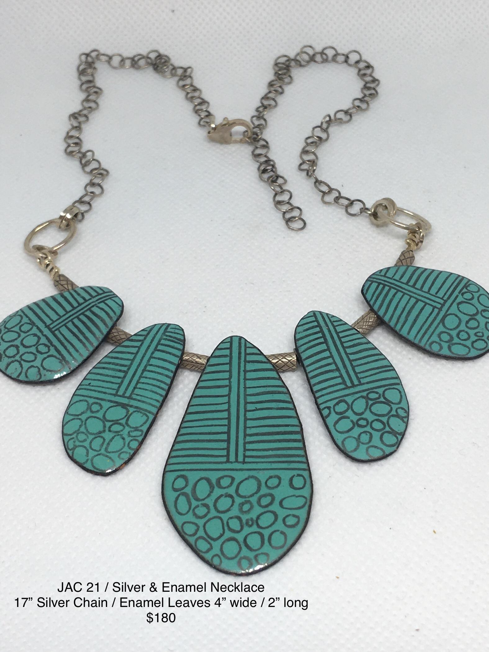 JAC#21-neck-silver-turq-enamel-leaves-3122